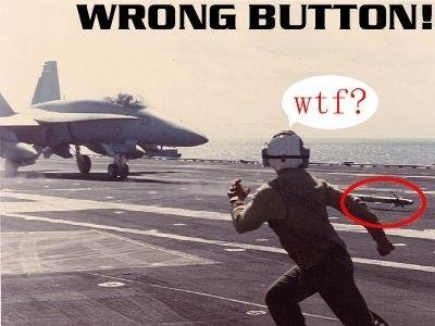 Wrong button