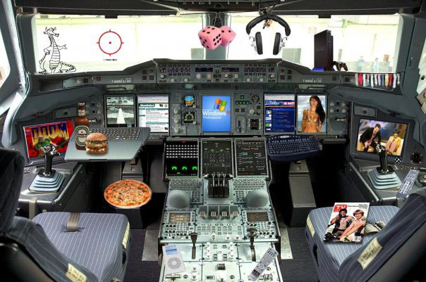 The Flight deck as seen by the Captain's wife | Aviation Humor