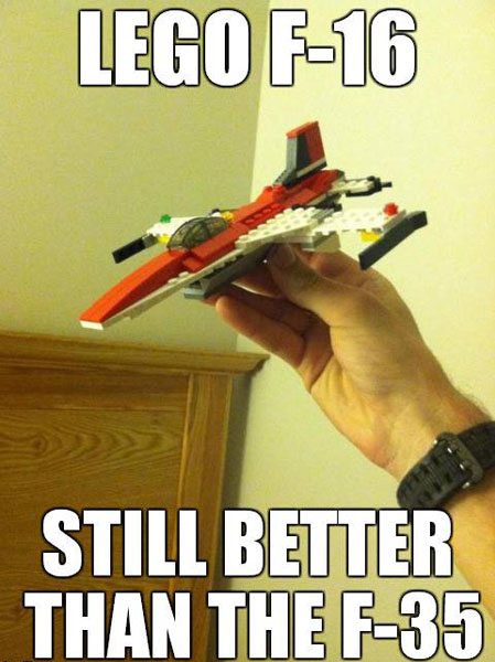 Lego F-16 Still Better Than the F-35