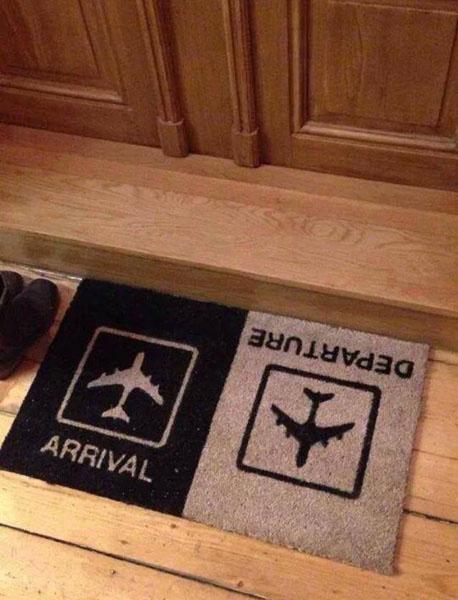 Arrival Departure Doormat Aviation Humor