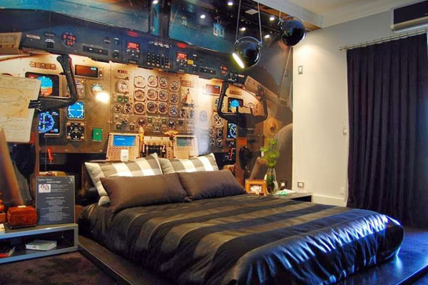 Airplane Cockpit-themed Bedroom