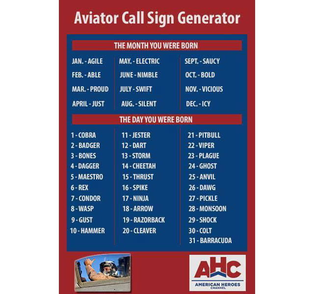 us navy helicopter pilot with Aviator Call Sign Generator on Fws Topics Special Operations Forces 30 besides Aircraft Mechanic likewise Unitedstatesnavy moreover Question Many Apache Helicopters Can C 5 Hold Answer Inside besides Skating Level Safety Observer.