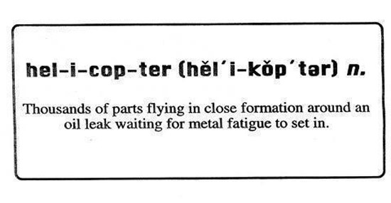 Helicopter dictionary definition