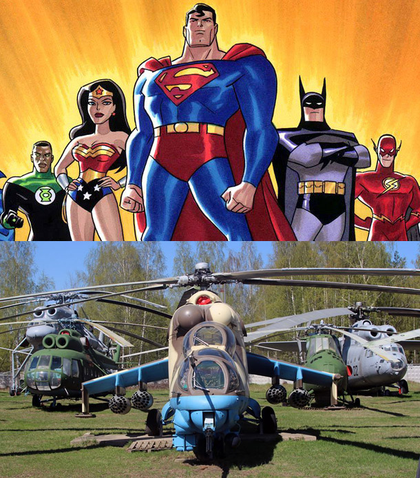 Justice League of Helicopters
