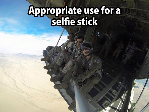 Appropriate use for a selfie stick