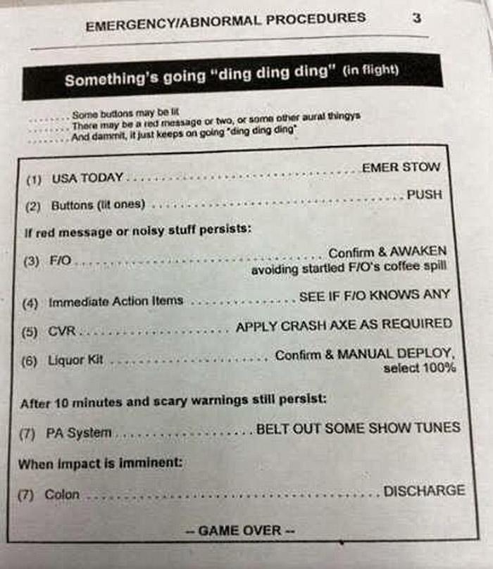 Ding ding ding emergency QRH