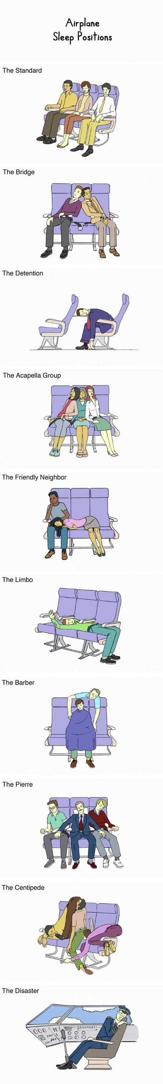 Airplane Sleep Positions