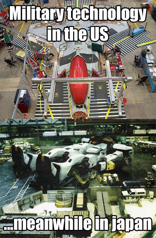 Military Technology - USA Vs. Japan