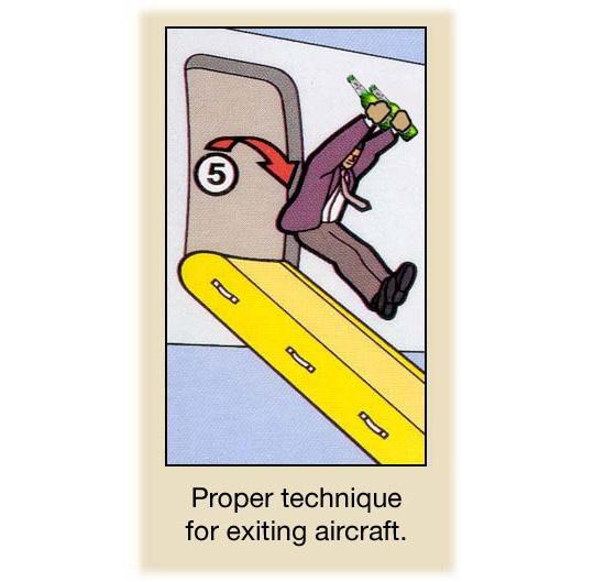Proper Technique For Exiting Aircraft
