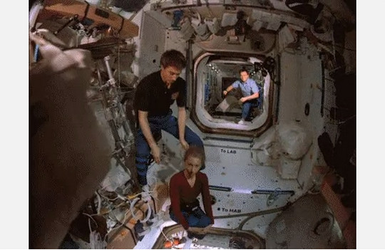 astronauts having fun in space - photo #1