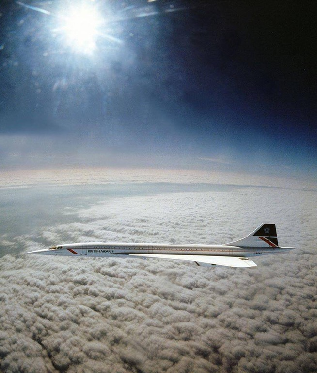 Concorde flying at Mach 2 (1,350 mph)