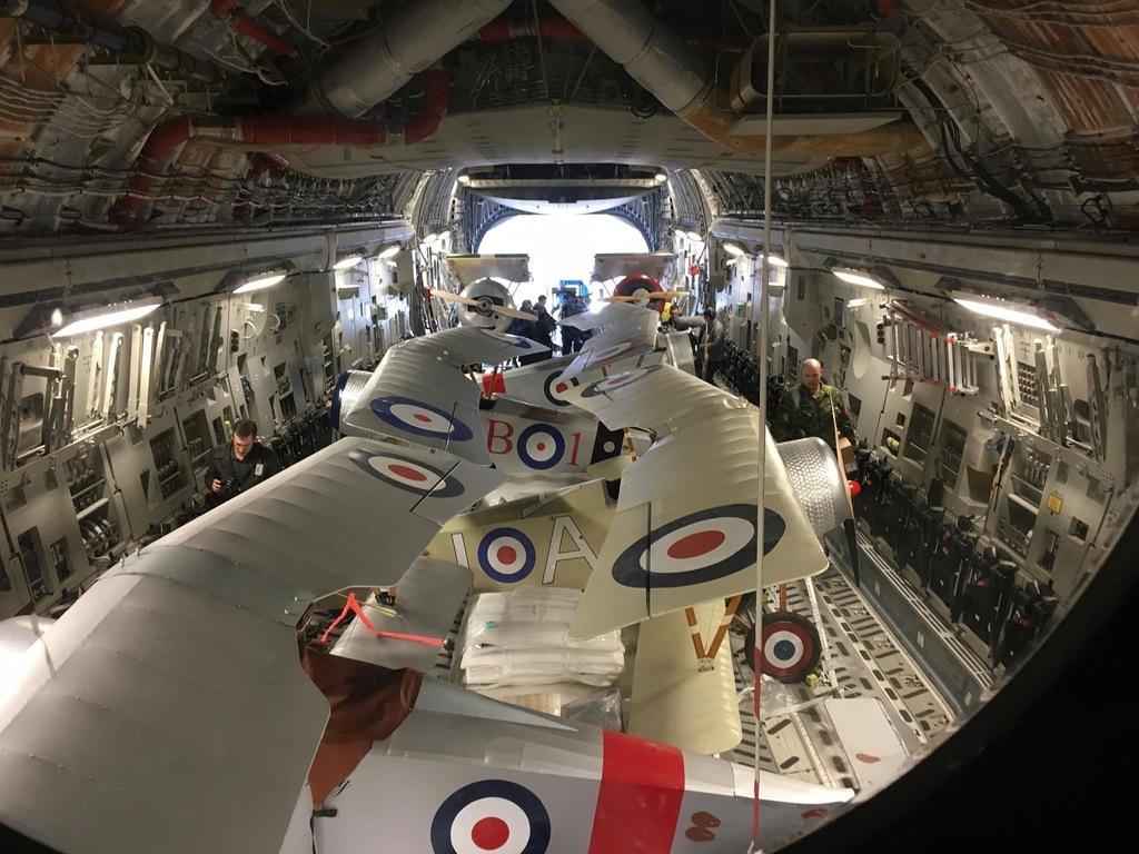 Nieuports inside a C-17