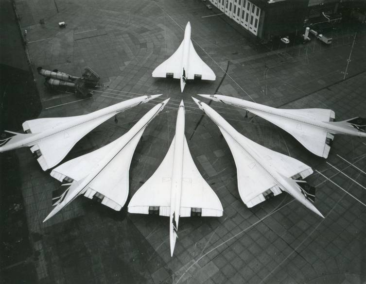 This always happens when Concordes meet a Concorde they haven't seen before.