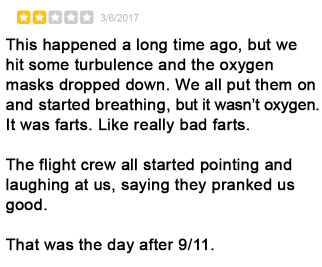 Negative But Hilarious United Airlines Yelp Reviews 1