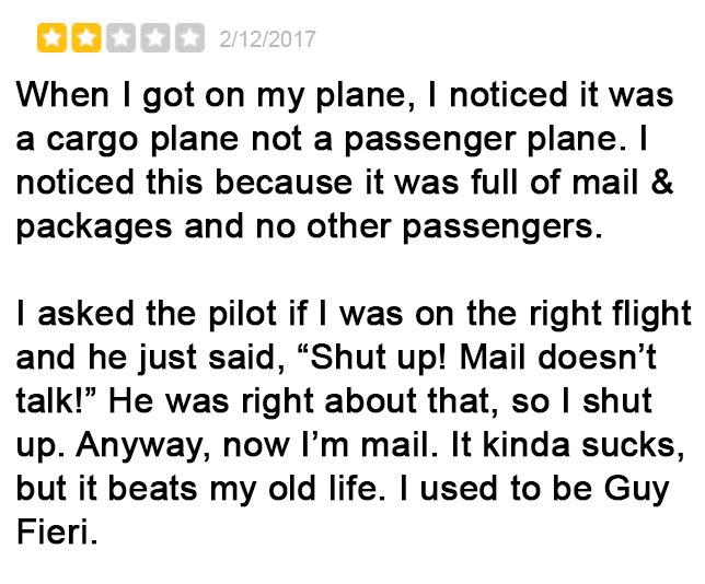 Negative But Hilarious United Airlines Yelp Reviews 9