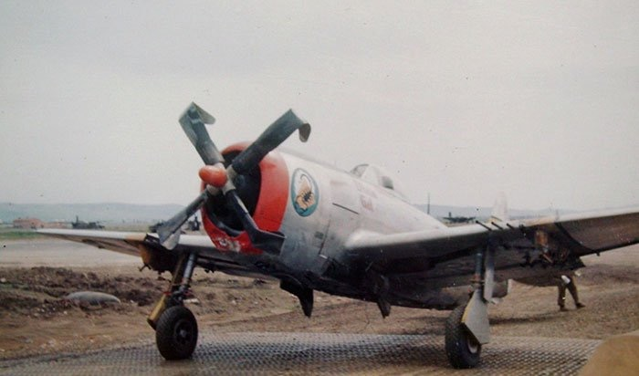 P-47-which-struck-the-ground-while-straf